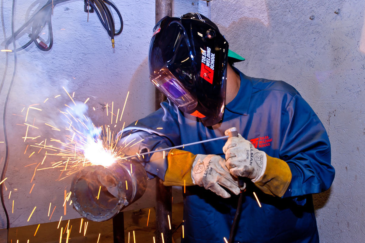 Welding subjects studied in high school for job application