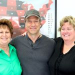 Mike Rowe with Stratatech CEO Mary Kelly