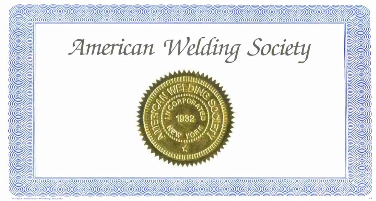 welding certificate training