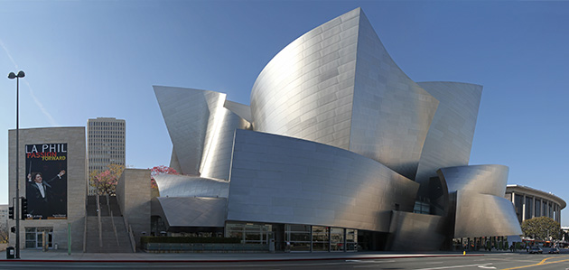 disney concert hall construction