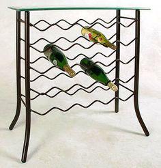 custom metal wine rack