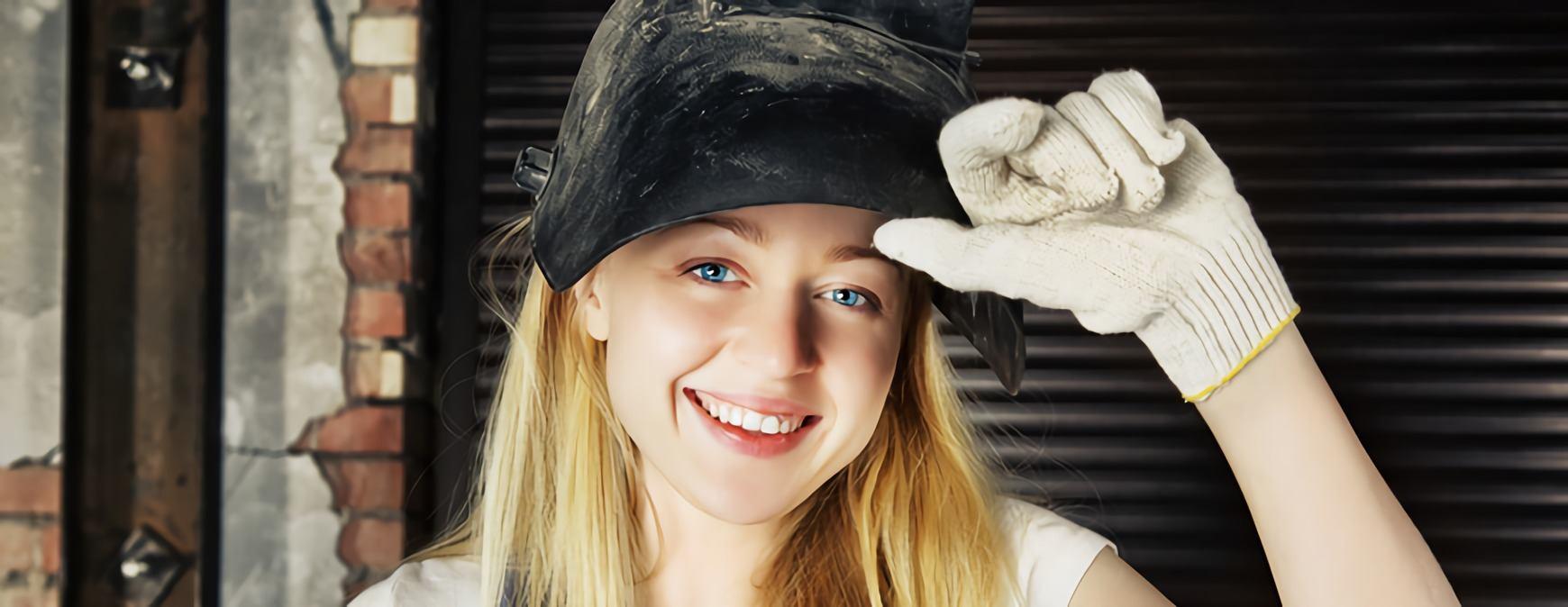 young welder