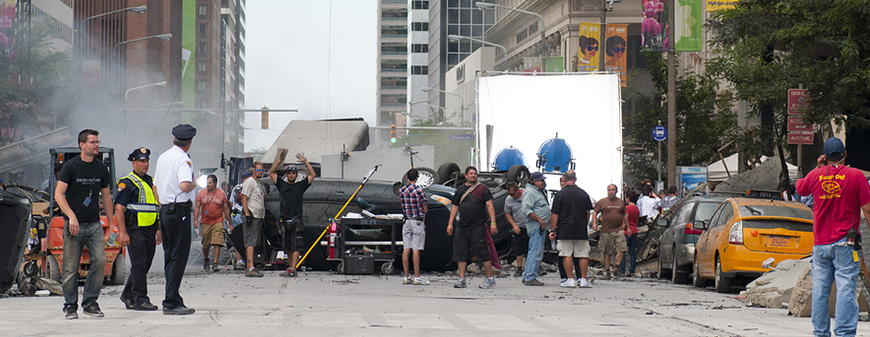 working on a movie set