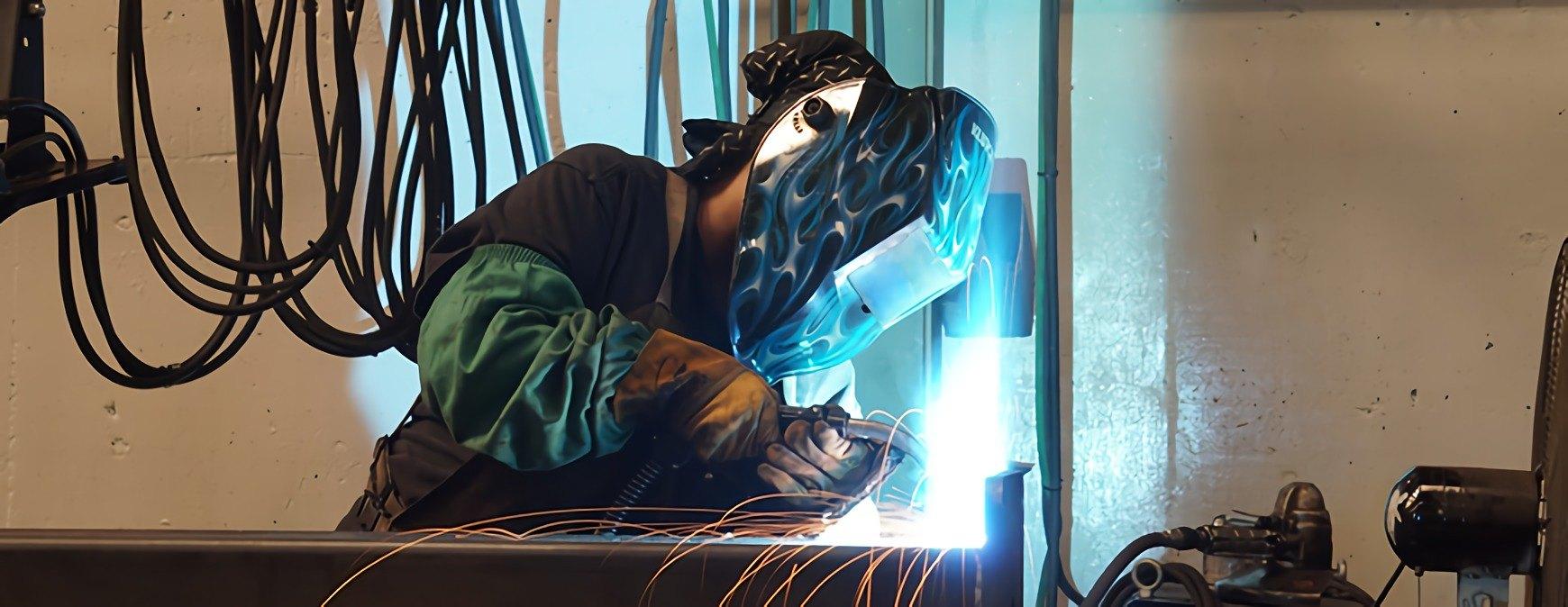 welder practicing trade