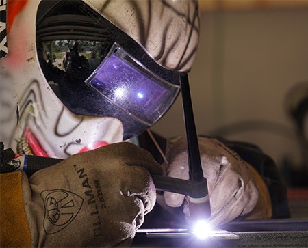 welder close up