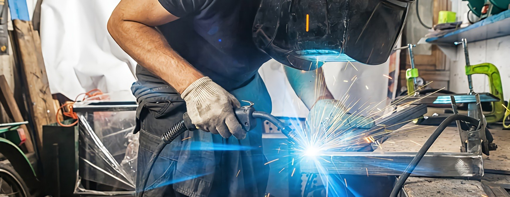 welding in a workshop