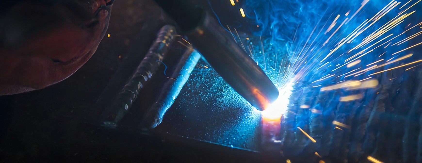 welding metal closeup