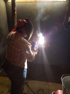 Amber Anderson welding