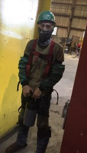 Brandon Perez welding gear