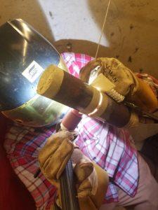 Mikal Weatherholt welding