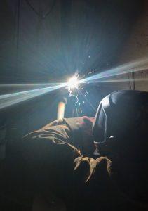 Sam Bales also welding