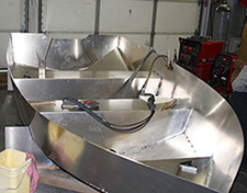 aluminum boat welding project