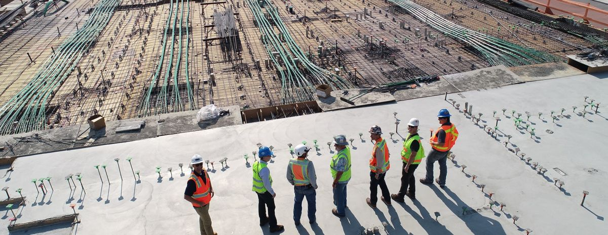 construction workers on big site