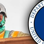 department of labor seal with construction worker