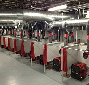 inside a welding training school
