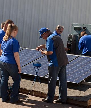 learning solar panel installation
