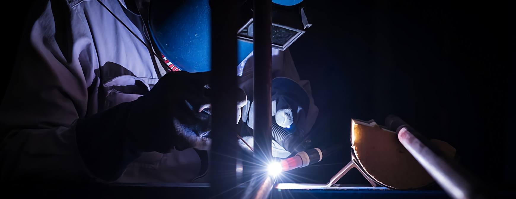 mig welding setup
