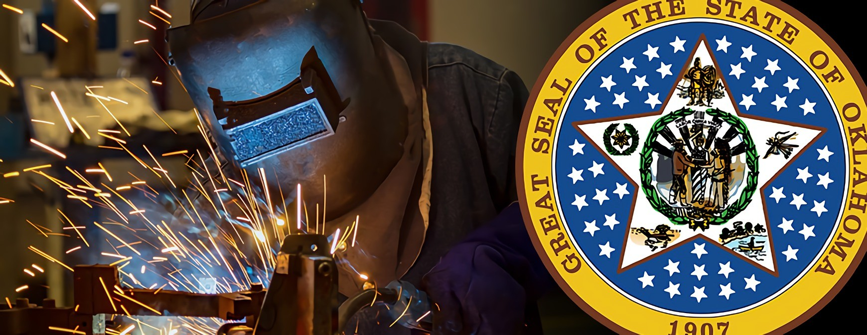 oklahoma state seal and skilled worker