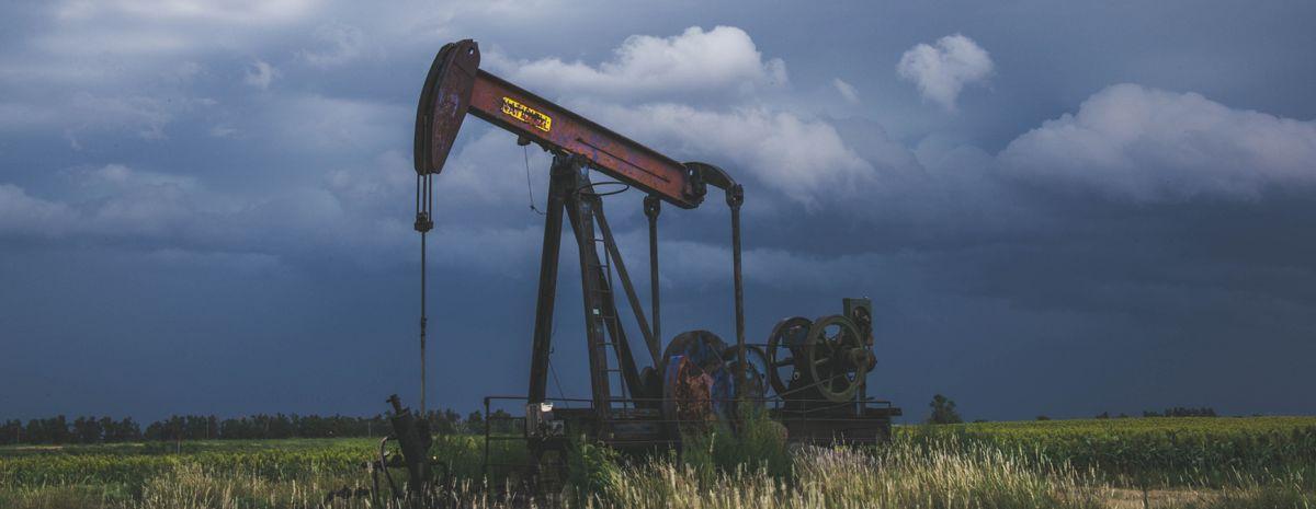 old broken oil field work