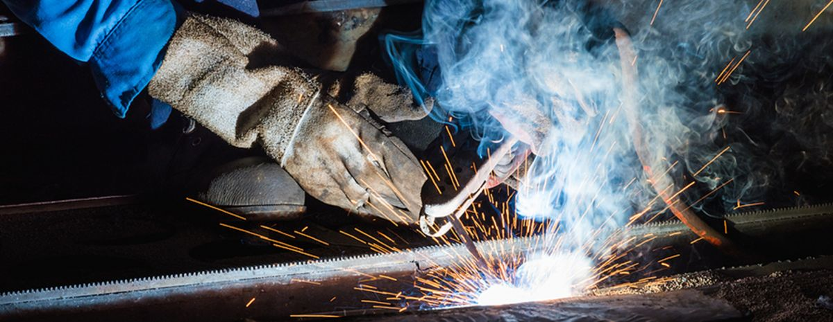 push or pull with stick welding