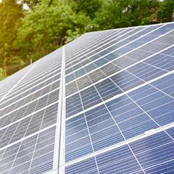 solar panel in sunlight