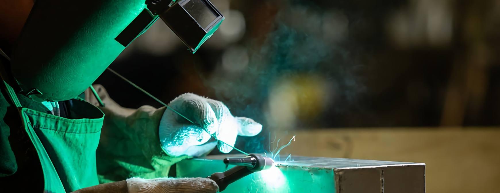 tig welder on beginner project
