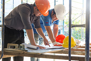 two workers in construction