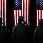 us military saluting the flag
