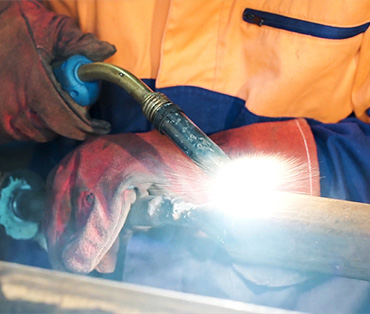 using welding equipment