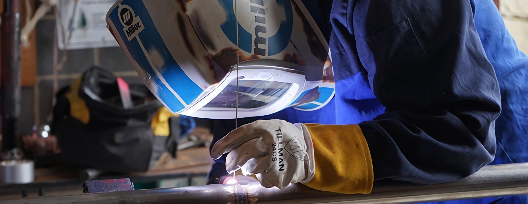 welder at vocational school