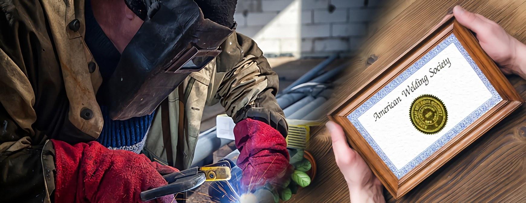 Welder with AWS Welding Certificate