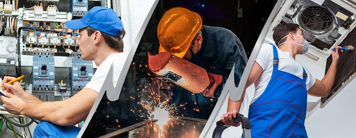 welder electrician and hvac technician jobs