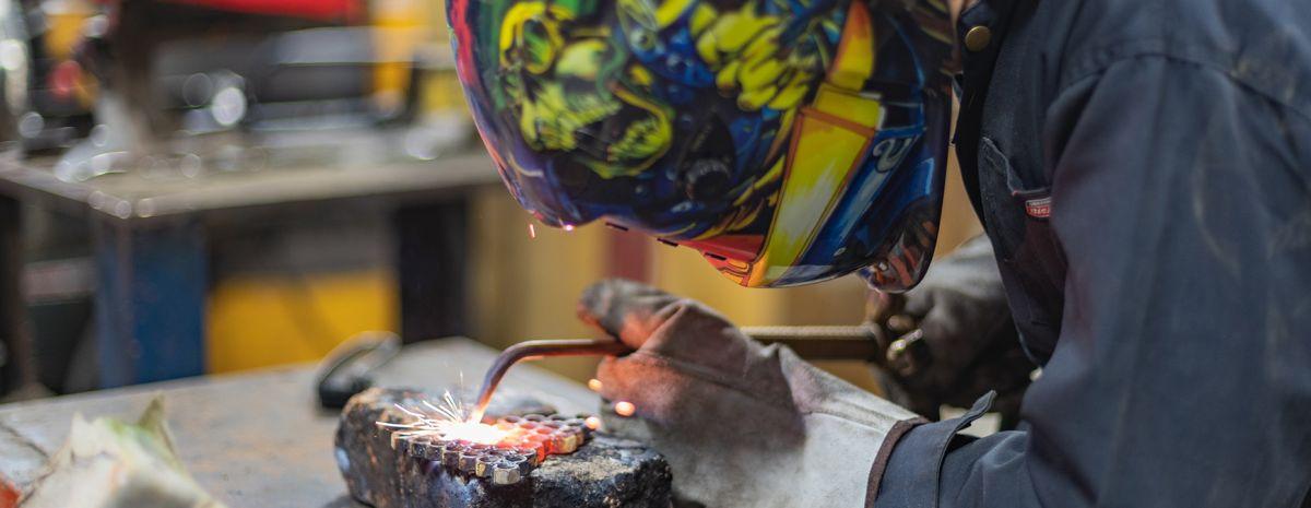 welder in essential equipment
