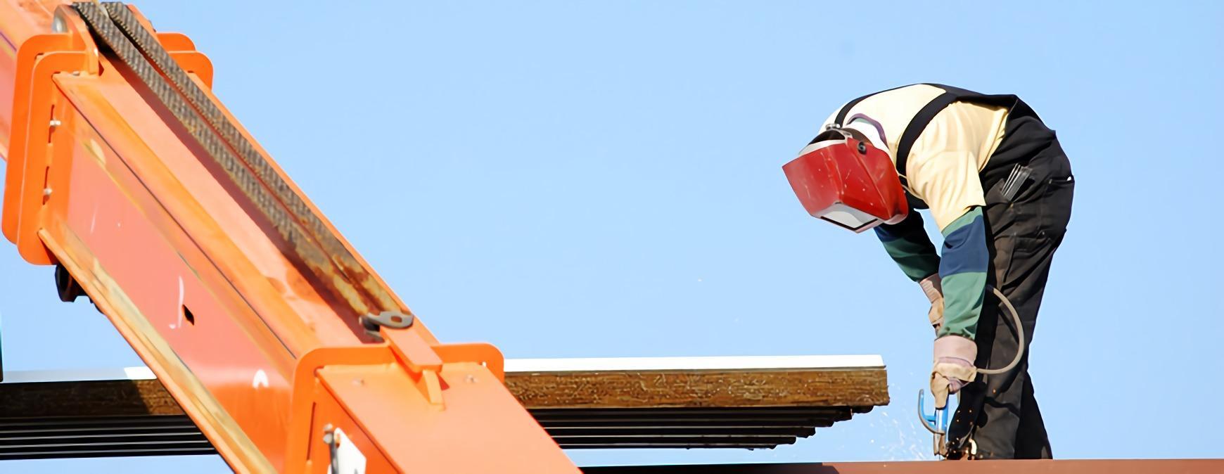 welder working in construction
