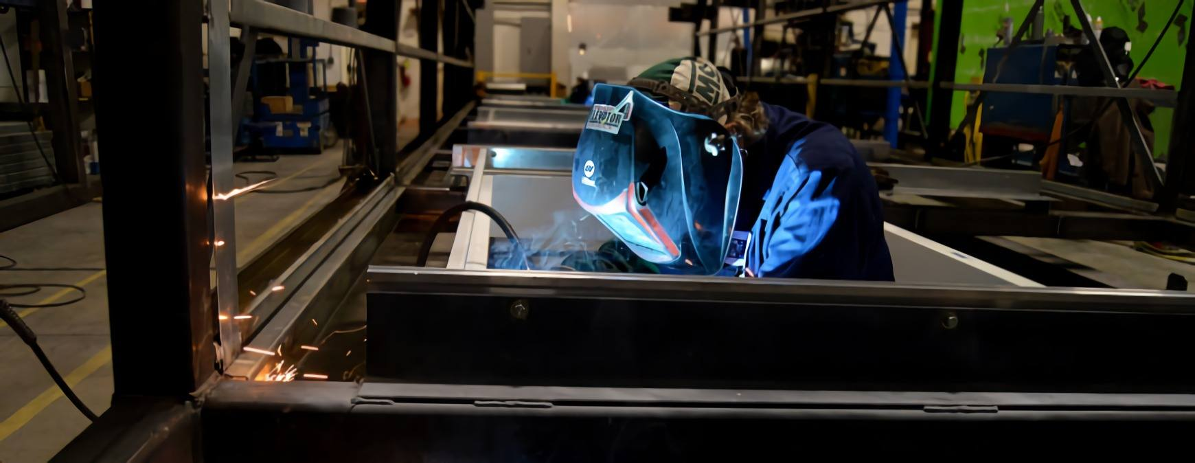 welder working in the military