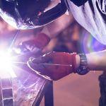 welder working on aluminum