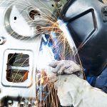 welding a car frame
