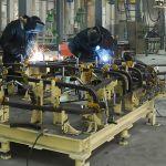 welding in a factory