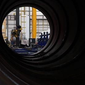 welding industrial pipe