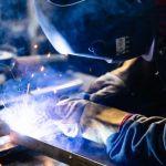 welding inside a workshop