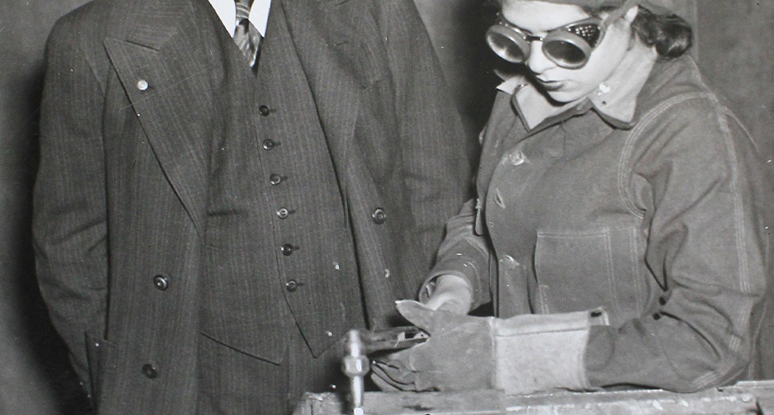 woman welding in world war 2