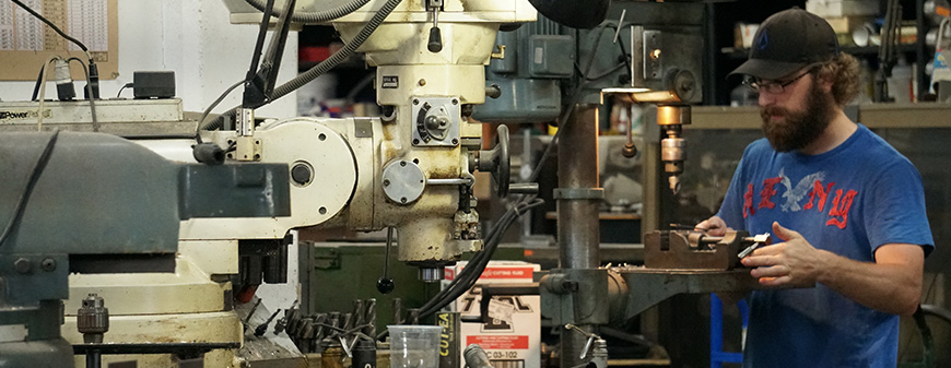 working in a machine shop