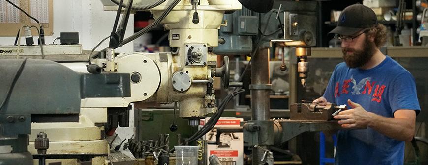 working in a machine shop